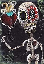 Take My Heart Abril Andrade Sugar Skull Sacred Flaming Tattoo Framed Art Print