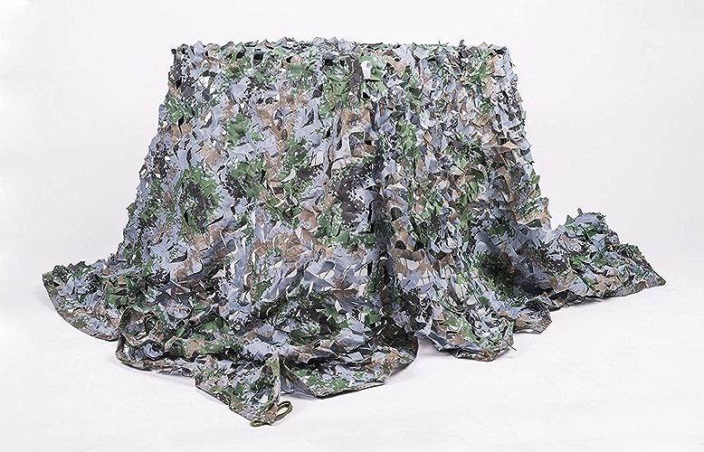 WNpb Filet de Camouflage en Bois de 2m × 3m de Filet de Camouflage, Tissu Oxford Professionnel de 210D Utilisé pour La Chasse Militaire en Train de Regarder à L'aveuglette Tente de Camping