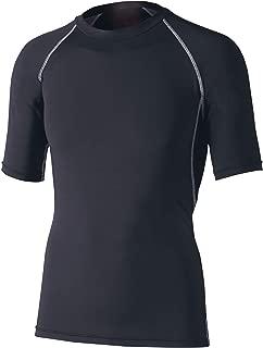 おたふく手袋 ボディータフネス 冷感・消臭 パワーストレッチ 半袖クルーネックシャツ JW-628 ブラック L