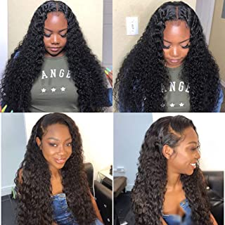 360 Lace Frontal Wigs Deep Wave Lace Front Human Hair Wigs with Baby Hair Pre Plucked Lace Frontal Human Hair Wigs for Black Women Lace Wigs Unprocessed Brazilian Virgin Hair Lace Front Wig