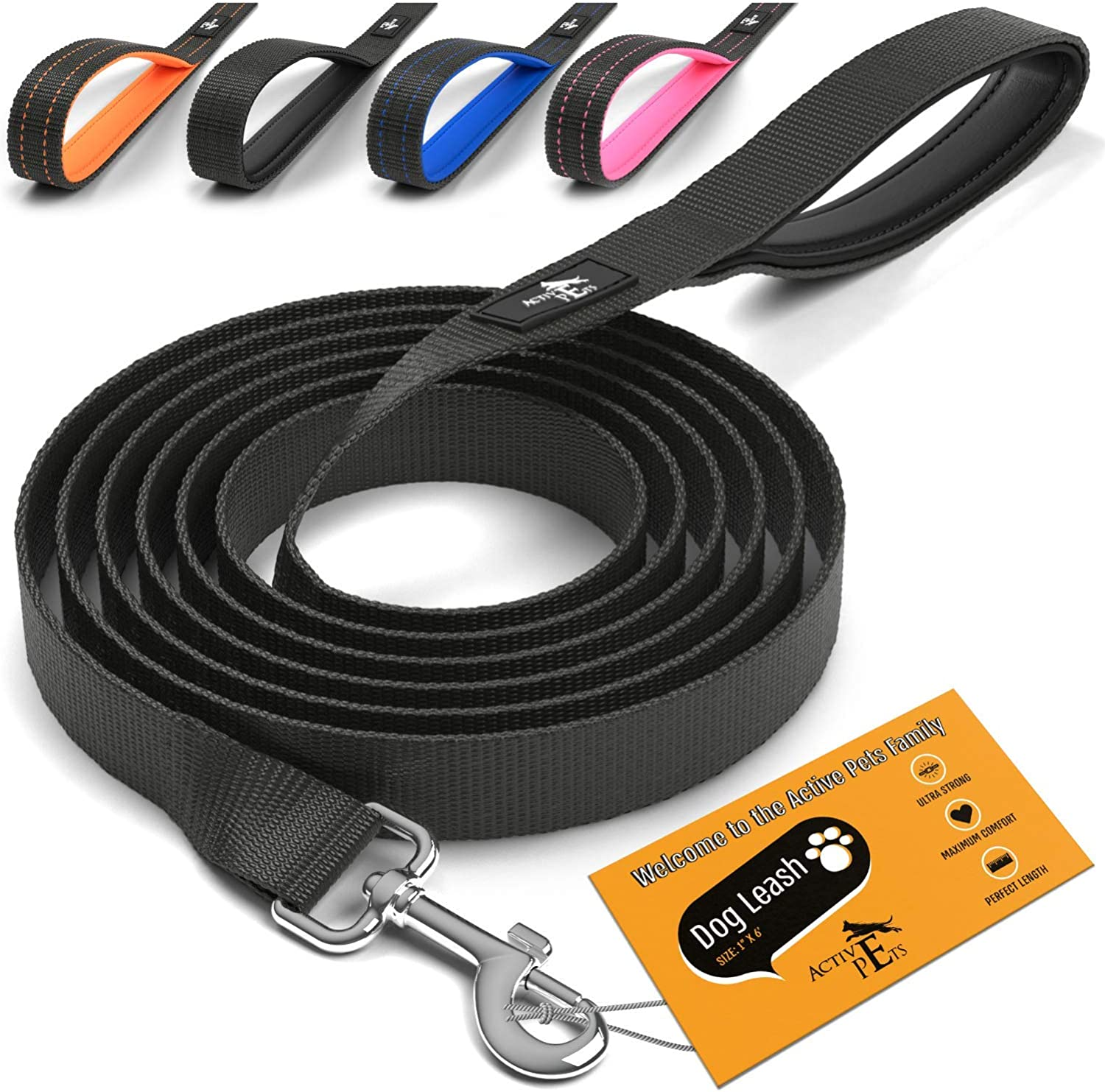 Active Pets Strong Dog Leash with Handle 4 Quantity limited Padded from New products, world's highest quality popular! Sizes Pu