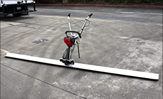 9TRADING 31cc Gas 4 Stroke Concrete Surface Leveling Vibratory Screed & 8' Aluminum Tamper Blade