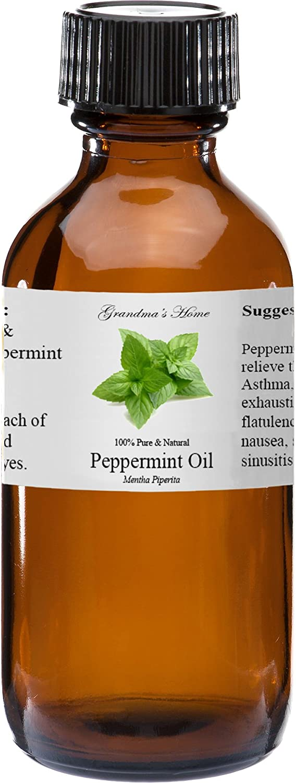Peppermint (Supreme) Essential Oil - 2 fl oz -100% Pure and Natural - Therapeutic Grade - Grandma's Home