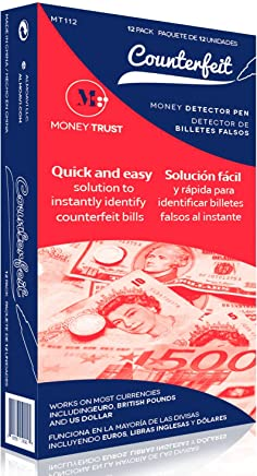 MoneyTrust Counterfeit Pen - Money Detector Pen 12 Pack That detects Counterfeit Bills for US Dollars