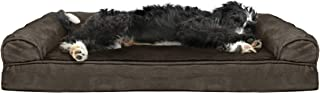 Furhaven Pet Dog Bed   Cooling Gel Memory Foam Orthopedic Ultra Plush Sofa-Style Couch Pet Bed for Dogs & Cats, Espresso, ...