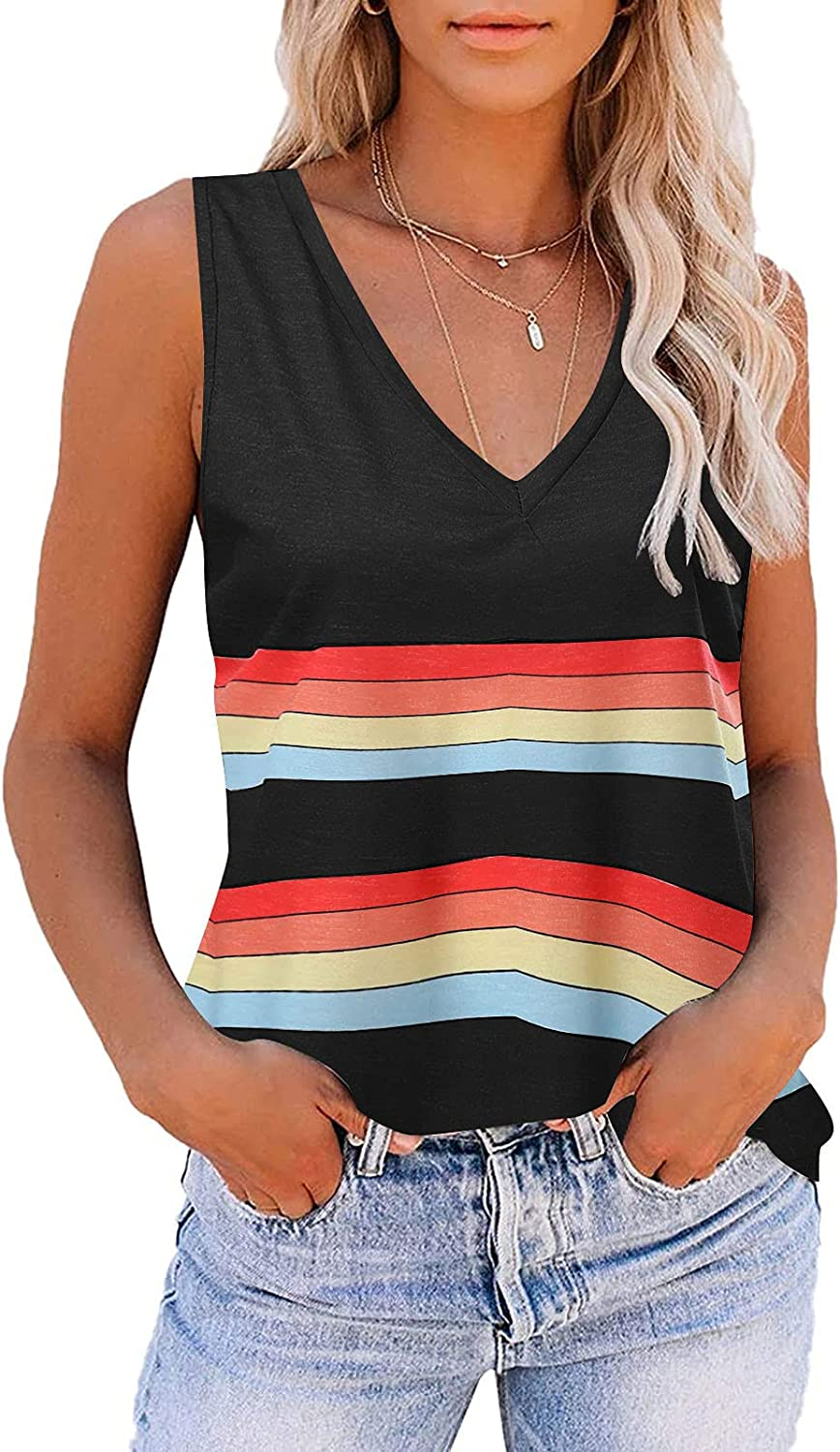 Cute Summer Tops for Women Cropped,Women Tank Tops Loose Fit Sleeveless Casual Summer Tops Funny Printed T Shirt