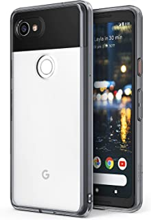 Ringke Fusion Google Pixel 2 XL Phone Case Crystal Clear Minimalist Transparent PC Back TPU Bumper Drop Protection Scratch Resistant Natural Shape Protective Cover for Pixel 2 XL - Smoke Black