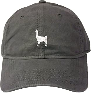 Adult Llama Embroidered Deluxe Dad Hat