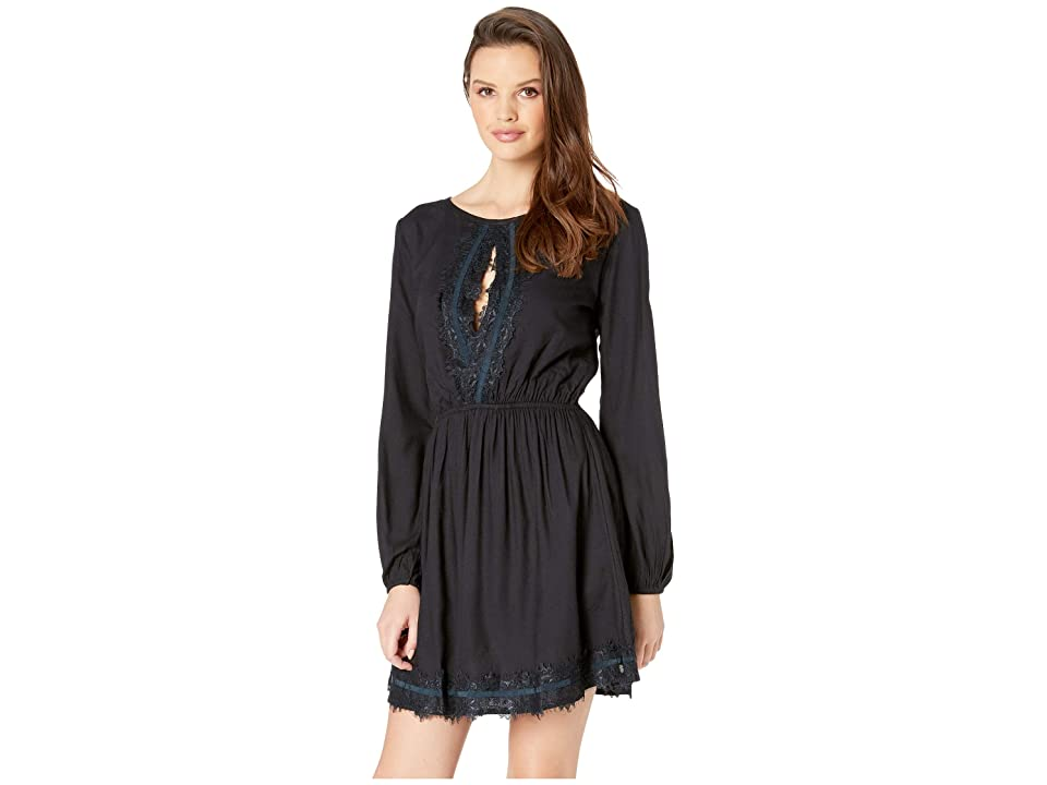 Roxy Side of Motion Pleated Dress (True Black) Women