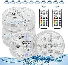 Forever Speed Onderwaterverlichting met zuignap, 4 stuks IP68 led onderwaterlampen zwembadverlichting magnetisch waterdich...