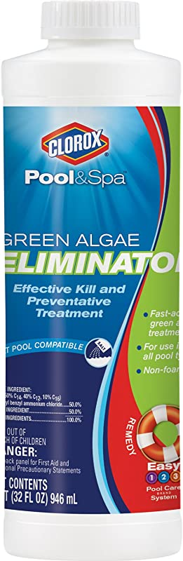 Clorox Pool Spa Green Algae Eliminator 1 Quart 42032CLX