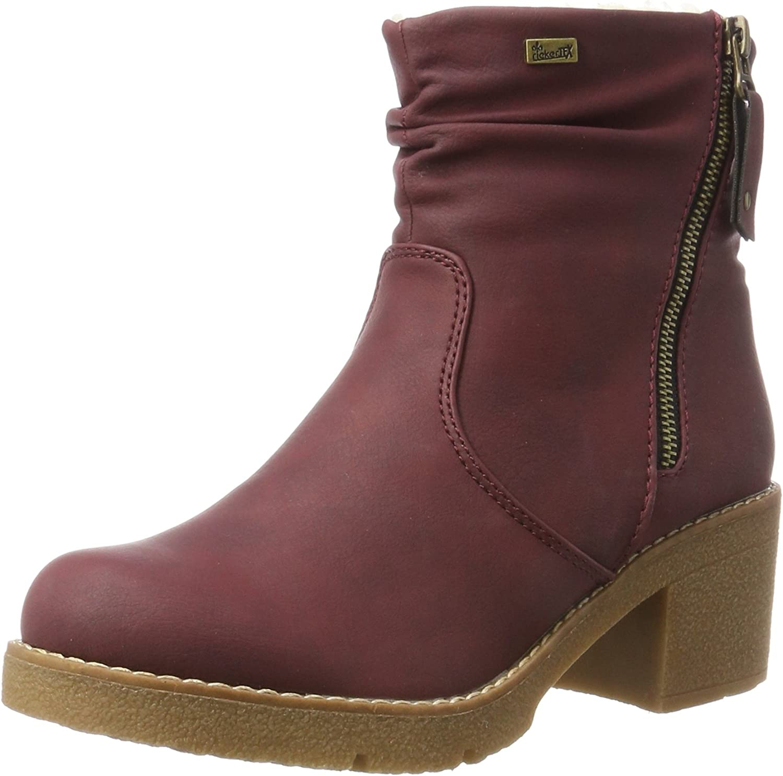 Rieker Women Ankle Boots red, (Wine) 99661-35