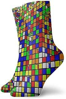 Dydan Tne, Niños Niñas Locos Divertidos Rubiks Cubo Calcetines del Mundo Calcetines Lindos del Vestido de la Novedad