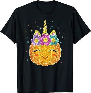 Cute Unicorn Pumpkin Halloween Thanksgiving T-Shirt