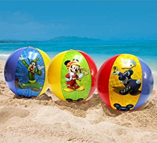 3 pcs Disney Mickey Mouse & Friends Inflatable Beach Ball party favor