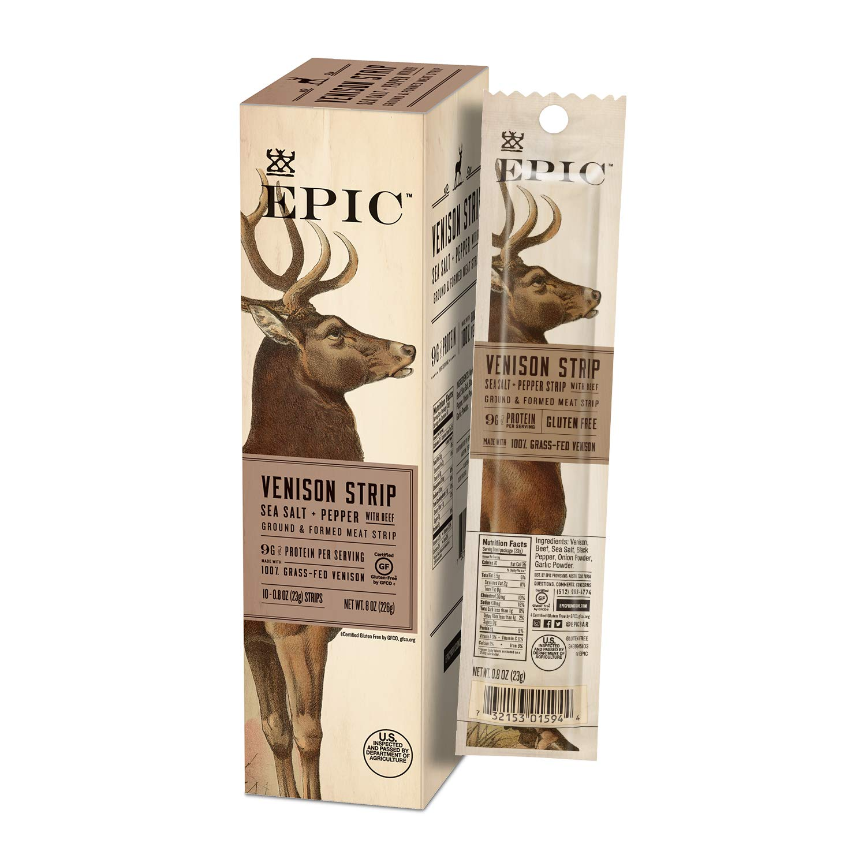 Epic 100% Grass Fed Venison Import 2021 autumn and winter new Sea Pepper Strip 0.8 Steak Ou Salt