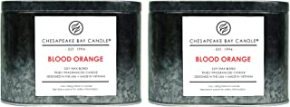Chesapeake Bay Candle Tin with Double Wick Scented Candles, Blood Orange, (2-Pack)
