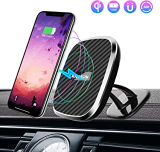Nillkin Wireless Car Charger Mount, 2 in 1 Auto Magnetic Charging Car Phone Holder 5W/ 7.5W/10W Qi Fast Wireless Charger w...