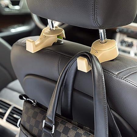 Car Headrest Hooks Rest Metal Hanger Hooks for Storage Grocery Clothes Purse Bag
