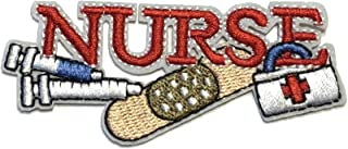 Nurse Embroidered Patch Iron-on or Sew-on EMT Medic Cross Doctor First Responder First Aid Series Emblem Badge DIY Appliques Application Fabric Patches