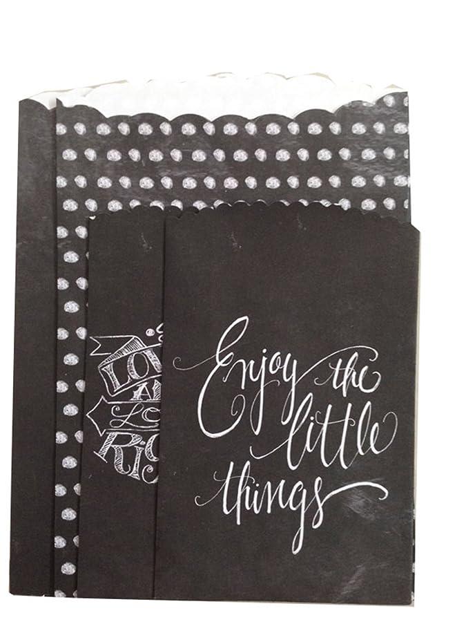 Melissa Frances GNWY003 Chalk Talk Treat Bag, 3.5-Inch x 5.3-Inch and 5-Inch x 7.5-Inch, 4-Pack