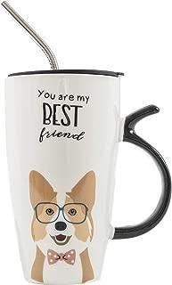 Nayo The Corgi - Corgi Best Friend Mug Set with Lid and Metal Straw