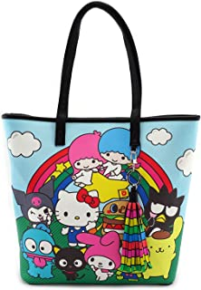 x Hello Sanrio Characters/Rainbow Tote Bag (Multi, One Size)