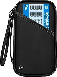 【2020年最新版】CAMORF パスポートケース スキミング防止 防水 パスポートカバー 通帳ケース 首下げ シンプル 四つのパスポート 航空券 紙幣 カードなど収納可