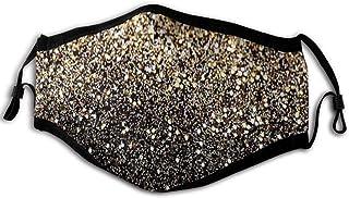Adulto Polvere Bocca Copertura Oro Glitter Nero Punti Dorati Regolabile Orecchio Loop Riutilizzabili Antivento Viso Copert...