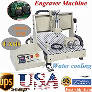 Power Milling Machines by CNCEST, 6040 1500W 4 Axis Engraving Cutting CNC Router Engraver Carving Milling Spindle Machine Metalworking Drilling Milling Machine Tool