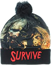 AMC The Walking Dead Sublimated Survive Text Cuff Pom Beanie