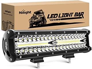 Nilight 18023C-A 12Inch 12 Inch 300W Triple Row Flood Spot Combo 30000LM Bar Driving Boat Led Off Road Lights for Trucks,2...