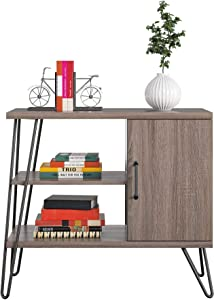 Ameriwood Home Haven 3 Shelf, Distressed Gray Oak Bookcase