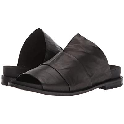 Kelsi Dagger Brooklyn Ohana Slide (Black Veg Leather) Women