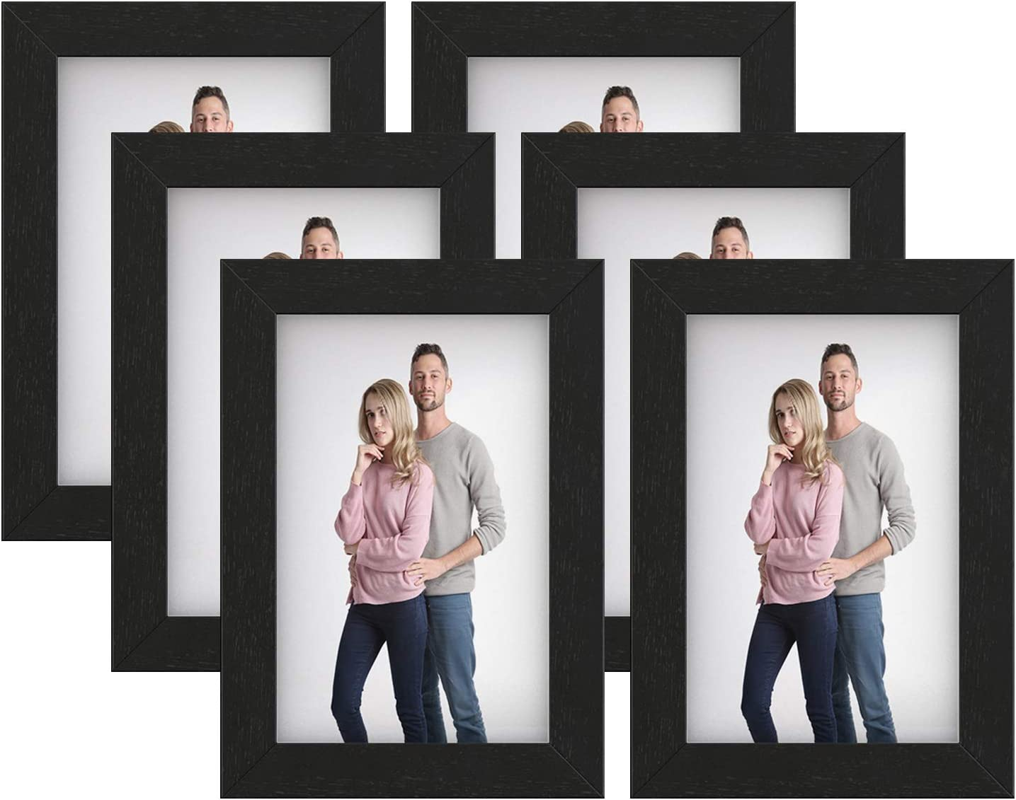 SONGMICS Picture Frames, Set of 6 Photo Frames for 4 x 6-Inch Ph