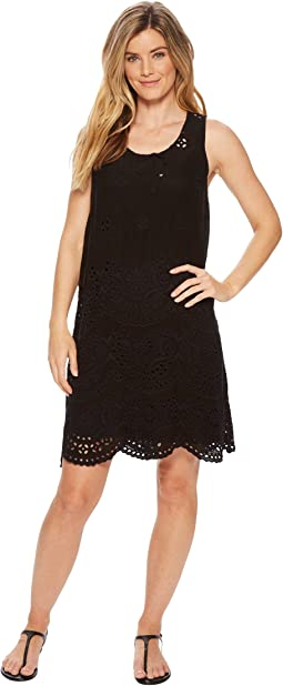 Johnny Was - Tiered Eyelet Tank Dress w/ Slip