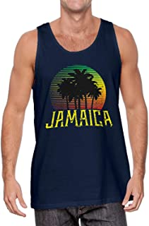 Jamaican Palm Trees Scene - Love Jamaica Men's Tank Top