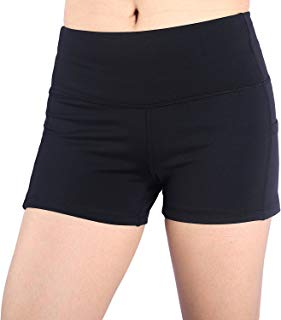EAST HONG Womens Yoga Shorts Running Shorts Have Pockets