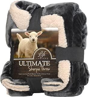 Life Comfort Ultimate Sherpa Throw, 60