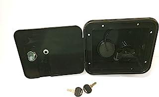 Valterra Black Gravity/City Water Hatch Fill Dish Lock Keys RV Trailer