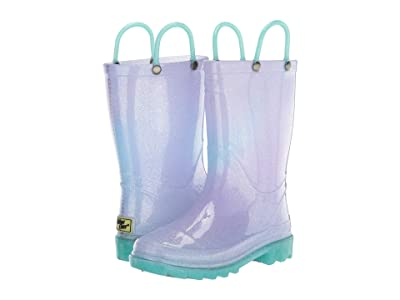 Western Chief Kids Glitter Ombre Lighted PVC Boot (Toddler/Little Kid) (Teal) Girl