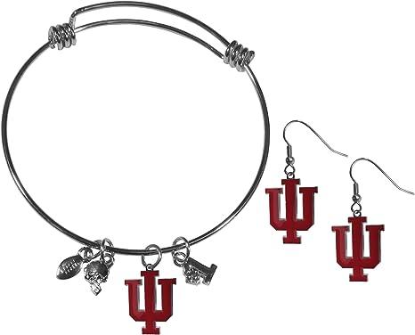 NCAA Siskiyou Sports Womens Georgia Bulldogs Dangle Earrings and Charm Bangle Bracelet Set One Size Team Color