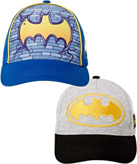 Boys 2 Pack 3D Pop Baseball Cap: Batman, Superman,...