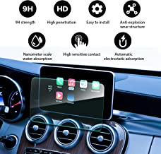 YEE PIN Navigation Display Tempered Glass Screen Protector for 2014-2018 Mercedes Benz C-Class C43 C63 AMG W205 Comand Online NTG 5 8.4 Inch Touch Screen Protector Scratch Resistant