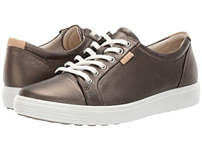 ECCO Soft 7 Sneaker (Black Stone Metallic Cow Leather) Women