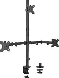 VIVO Triple LCD Monitor Desk Mount Stand Heavy Duty and Fully Adjustable | 3 Screens up to 30 inches (STAND-V003T)