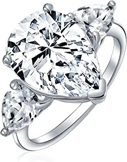 Best pear shaped diamond ring with side stones Reviews