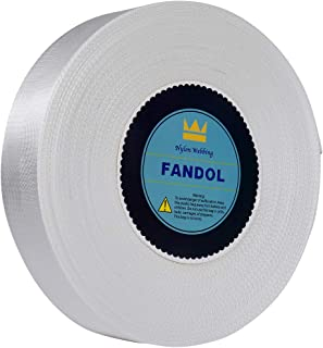 FANDOL Nylon Webbing - Heavy Duty Strapping for Crafting Pet Collars, Shoulder Straps, Seatbelt, Slings, Pull Handles - Repairing Furniture, Gardening, Outdoor Gear & More (1 inch x 10 Yards, White)