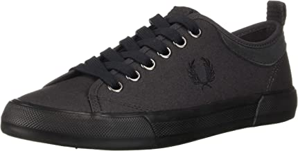 Fred Perry Men's Horton Waxed Canvas/Suede Sneaker