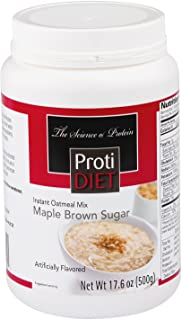 ProtiDIET Instant Oatmeal Mix (7 Pouches), Simply Add Water, No Sugar Meal Replacement, No Trans Fat, 15G Protein, 90 Calo...